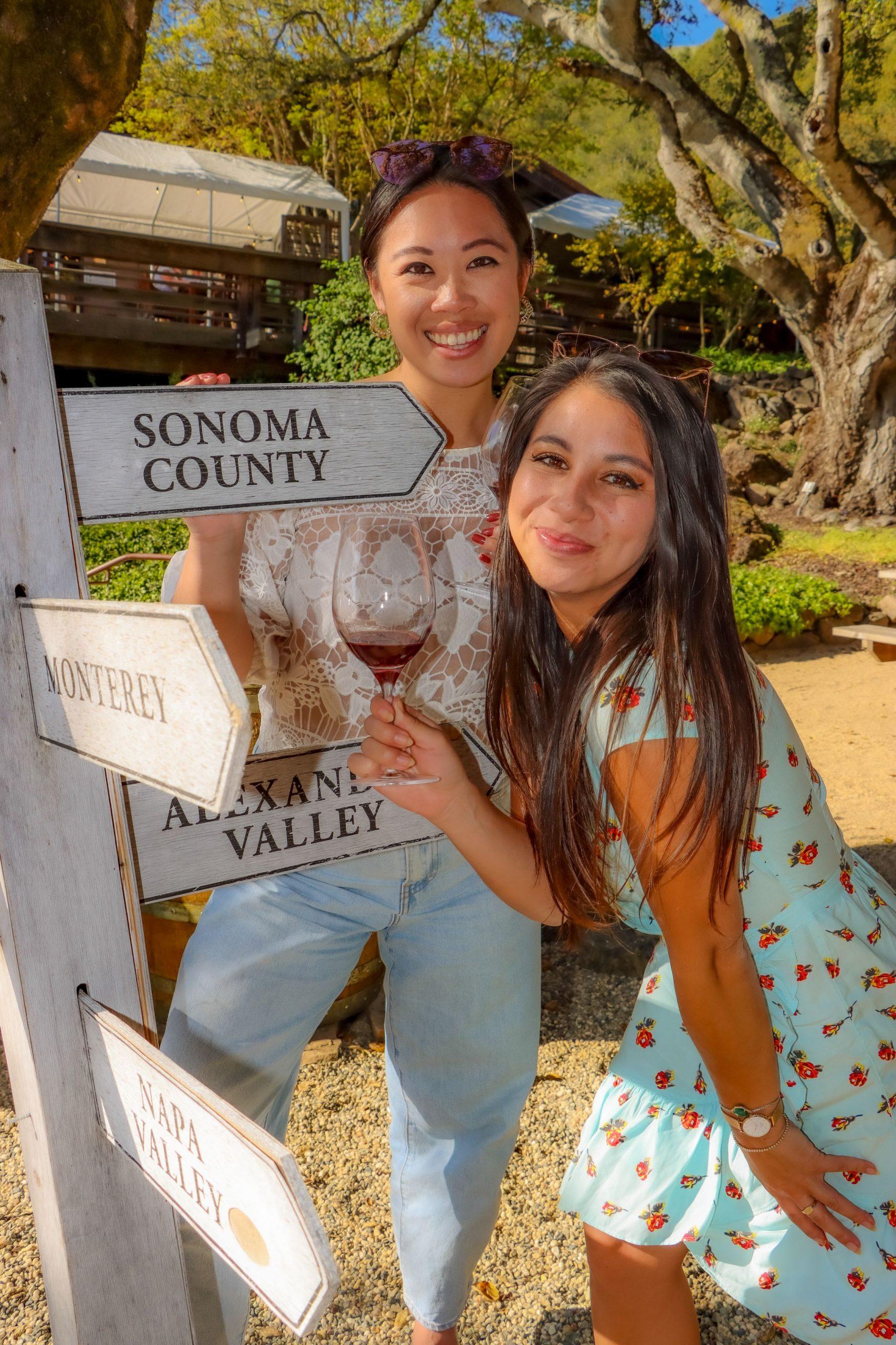 Matanzas Creek wine tasting in Sonoma County.