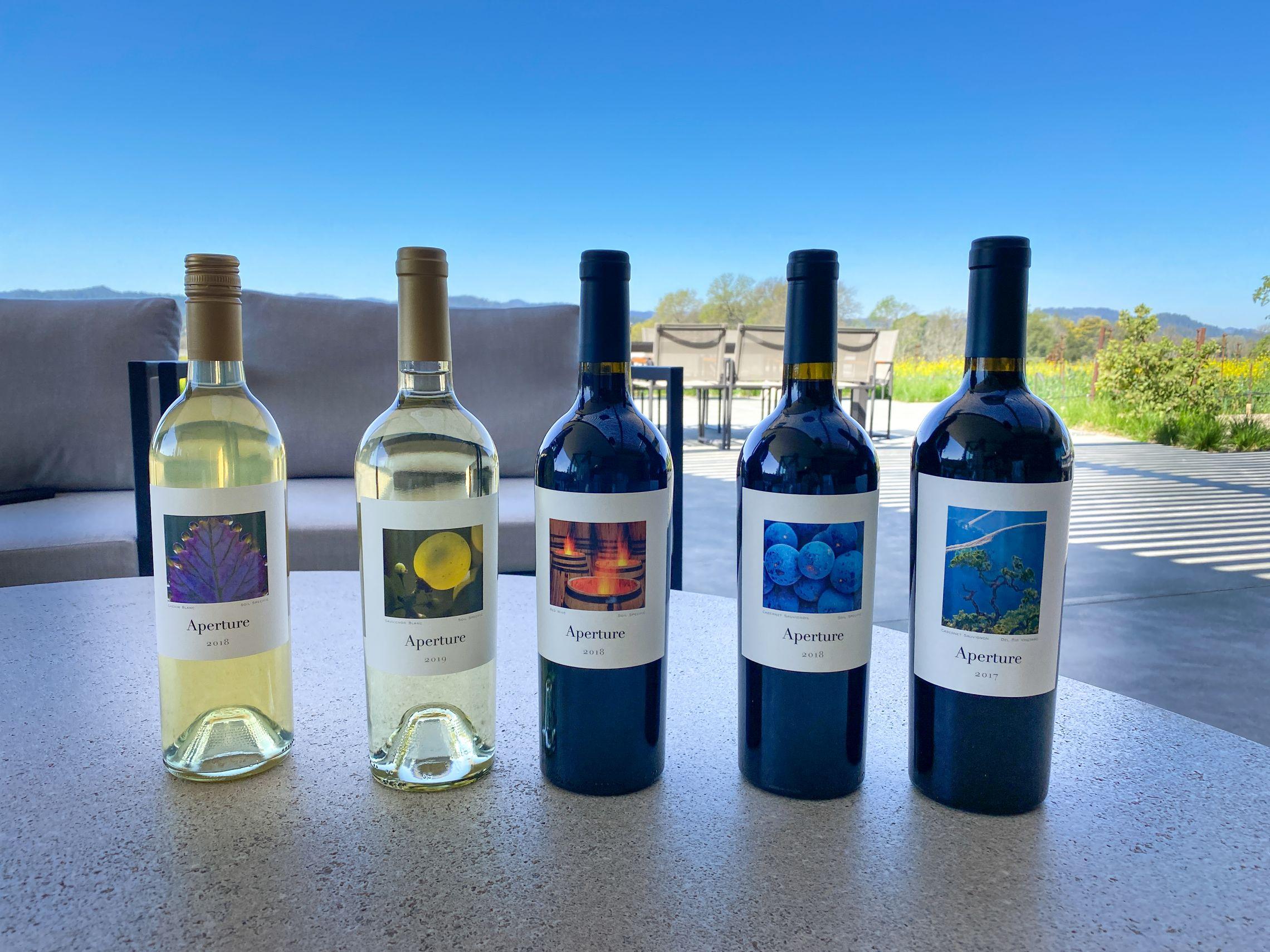 Wine tasting at Aperture Cellars in Sonoma County.
