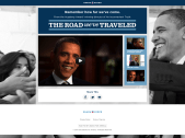 "Microsite featuring ""The Road We've Traveled"" video and information on President Obama's growth during his first 4 years."