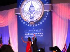 The Obamas on election night, courtesy of my crappy phone camera