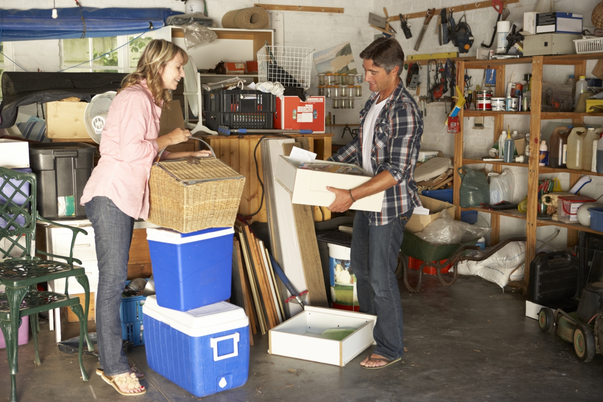 tips to clean out your garage junk removal www.cheyennehauling.com