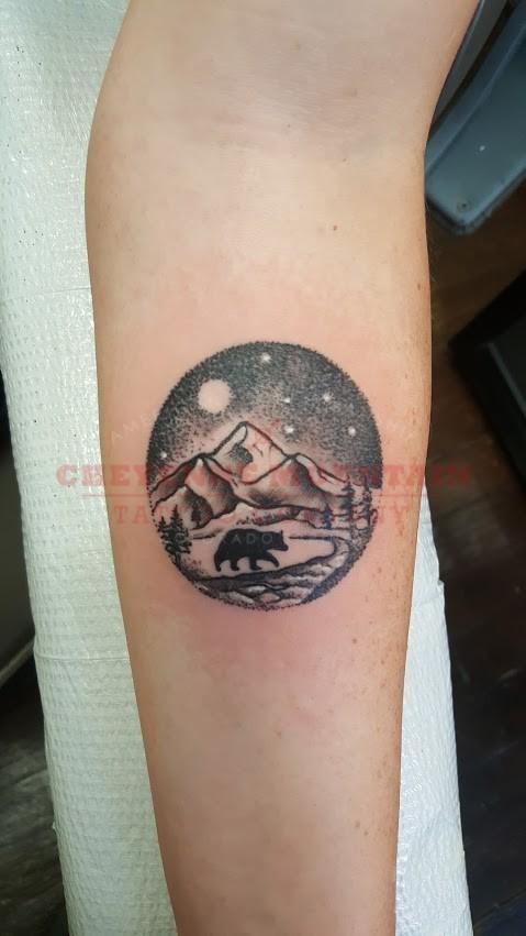 Rocky Mountains Tattoo : rocky, mountains, tattoo, Rocky, Mountain, Circle, Cheyenne, Tattoo