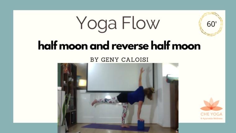 Yoga Flow - Half moon and reverse half moon