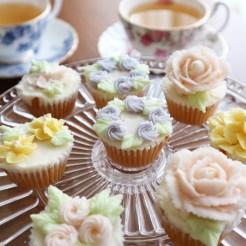 cupcakelesson, cupcakedecoration, お花絞り, バタークリームデコレーション,
