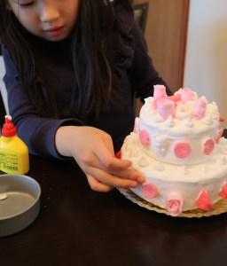 手作り粘土ケーキ