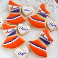 チアユニフォーム, チアダンス, ユニフォームアイシングクッキー, 衣装アイシングクッキー