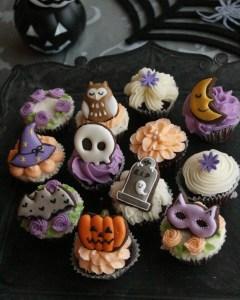 ハロウィンカップケーキ, ハロウィンアイシングクッキー, halloweensweets