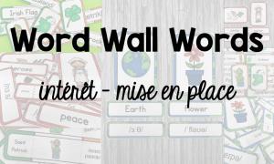 Word Wall Words : intérêt pédagogique et mise en place