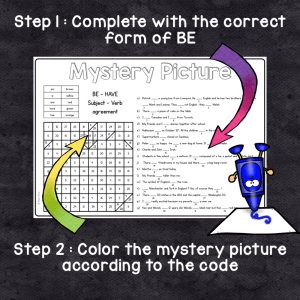 BE – HAVE : Subject Verb Agreement Mystery Pictures