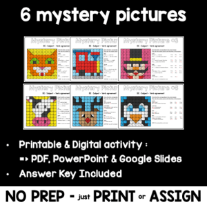 BE Subject Verb Agreement Mystery Pictures – PRINTABLE & DIGITAL