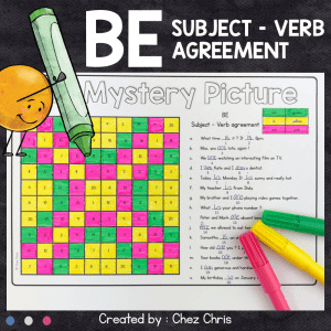 BE Subject Verb Agreement Mystery Pictures