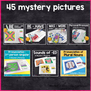 GROWING BUNDLE: English Grammar Mystery Pictures