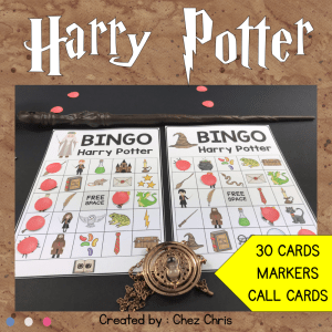 Harry Potter Bingo Game