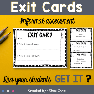 Exit Cards – Formative Assessment