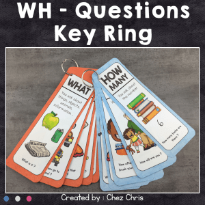 Question Words Key Ring – 14 questions words
