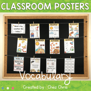 Vocabulary Posters : seasons, months…