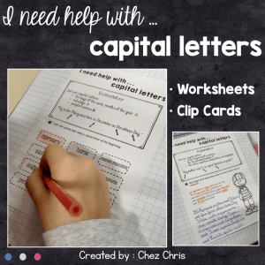 I need help with … Capital Letters