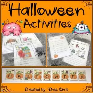 couverture de la ressource d'activité Halloween en anglais
