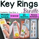 Couverture du bundle consacré aux key rings de grammaire, vocabulaire et phonologie + questions en anglais
