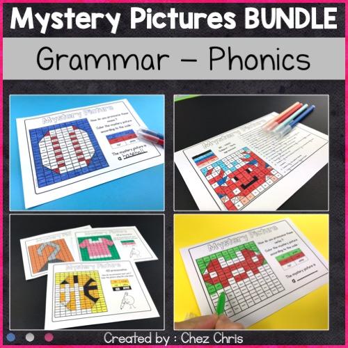 Image de couverture de la ressource: grammaire et phonologie avec les coloriages magiques