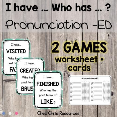 Image de couverture des jeux I have who has consacrés à la prononciation du ED des verbes réguliers