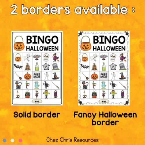 vignette du bingo d'Halloween