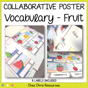 Fruit Vocabulary Collaborative Poster