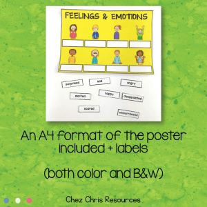 Feelings and Emotions Vocabulary Collaborative Poster