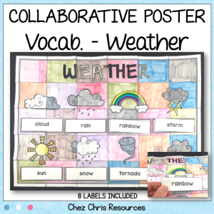 Weather Vocabulary Collaborative Poster