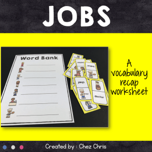 Dominoes : Jobs Vocabulary