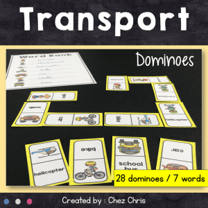 Dominoes : Transport Vocabulary