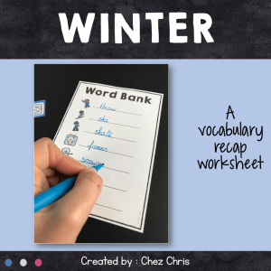 Dominoes : Winter Vocabulary