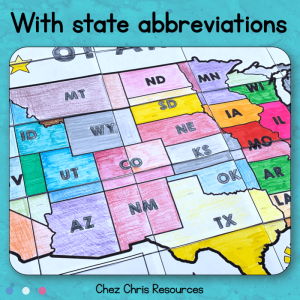 Map of the USA + State Abbreviations – A Collaborative Poster