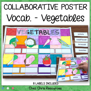 Vegetables Vocabulary – A Collaborative Poster