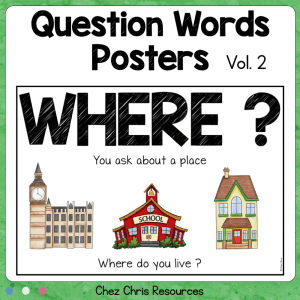 Question Words Posters – Vol 2