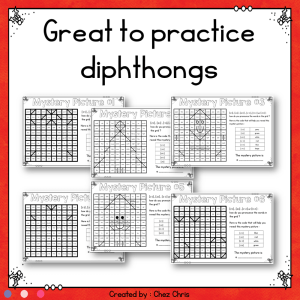 Christmas Diphthongs Mystery Pictures