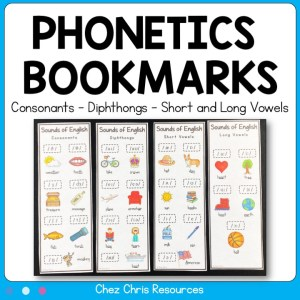 Phonetics Bookmarks : Consonants – Diphthongs – Short and Long Vowels