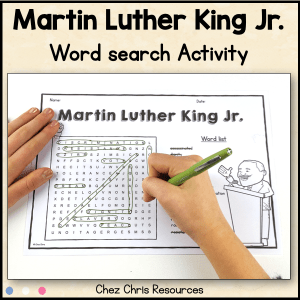 Martin Luther King Jr. Word Search Activity