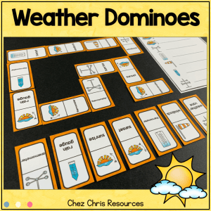 Weather Vocabulary Dominoes – BUNDLE