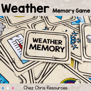 Weather Vocabulary – Memory Game & Word Search