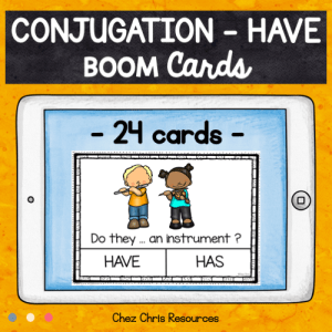 BOOM Cards : Have – Subject Verb Agreement