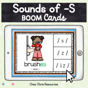 BOOM Cards : Sounds of -S (plural and verbs)