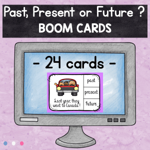 FREE Boom Cards : Past, present or future tense ?