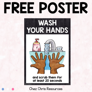 FREE Poster : Wash your hands
