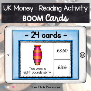 BOOM Cards : UK Money – Reading Activity
