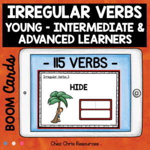 BOOM Cards : Irregular Verbs BUNDLE