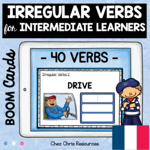 BOOM Cards : Irregular Verbs for Intermediate Learners with French Translation