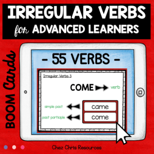 BOOM Cards : Irregular Verbs for Advanced Learners