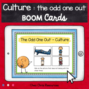 BOOM Cards : The Odd One Out – Culture