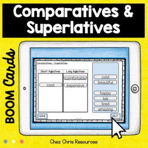 BOOM Cards : Comparatives and Superlatives